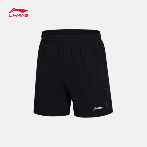 Li-Ning 2017 Men's badminton Game Shorts in Black AAPM027-2