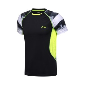 2017 Sudirman Cup Li Ning Men's TD Tournament Badminton Jersey in Black