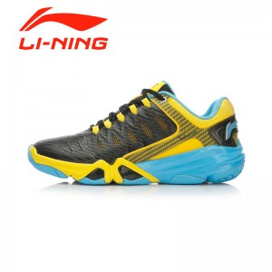 Li-Ning Multi Accelerate 3.0 Men's Cushion Badminton Professional Shoes - Black/Yellow/Blue