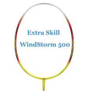 LI-Ning Badminton Racket Extra Skill Windstorm 500 - Red/Yellow