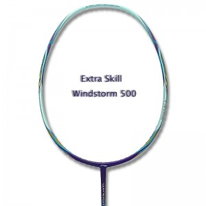 Li Ning 2017 Badminton Racket Extra Skill WindStorm 500 - Blue/Cyan [AYPM002-1]