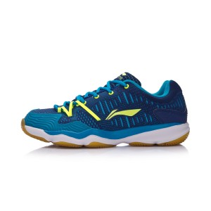 Li-Ning 2017 New Double Jacquard Men's Badminton Training Shoes - Blue [AYTM105-3]