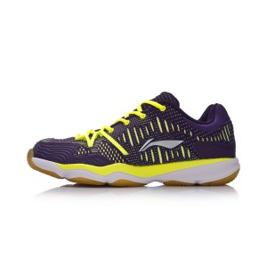 Li-Ning 2017 New Double Jacquard Men's Badminton Training Shoes - Green/Purple [AYTM105-4]