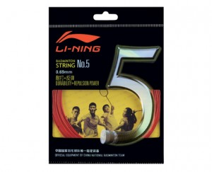 Li-Ning Badminton Racket String No. 5 String Ravishing Red
