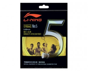 Li-Ning Badminton Racket String No. 5 String in Yellow