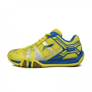 Li-Ning KIDS Light TD Badminton Training Shoes - Yellow/Blue/Silver [AYTJ068-2]