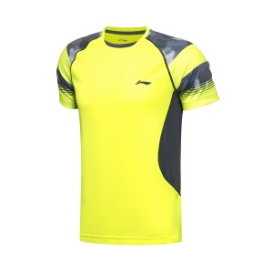 2017 Sudirman Cup Li Ning Men's TD Tournament Badminton Jersey - Fluorescent Green