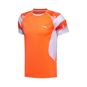 2017 Sudirman Cup Li Ning Men's TD Tournament Badminton Jersey in Orange