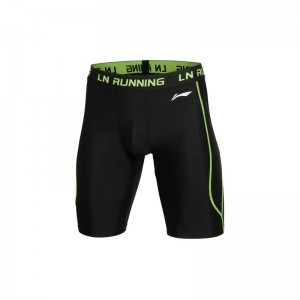 Li-Ning Men's Compression Training Shorts in black