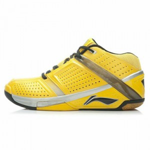Lin Dan Hero Men's Badminton Professional Game Shoes - Yellow [AYAJ077-2]