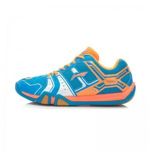 Li-Ning Men's Saga Light TD Badminton Training Shoes Blue/Orange/Silver