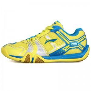 Li-Ning Men's Saga Light TD Badminton Training Shoes - Blue/Yellow/Silver