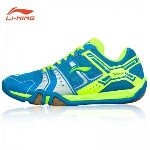 Li-Ning Men's Saga Light TD Badminton Training Shoes - Blue/Green/Silver