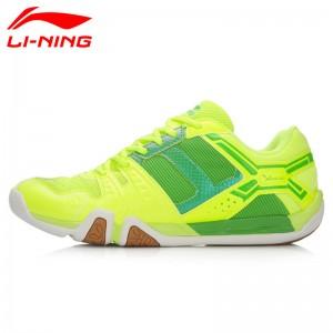 Li-Ning Men's Light TD Badminton Training Shoes - Fluorescent Green/Green [AYTL015-4]