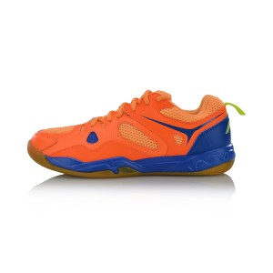 Li-Ning 2017 Men's Light Badminton Training Shoes - Fluorescent Orange [AYTM025-2]