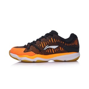 Li-Ning 2017 New Double Jacquard Men's Badminton Training Shoes - Orange/Black [AYTM105-1]
