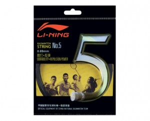 Li-Ning Badminton Racket String No. 5 String in Black