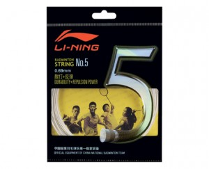 Li-Ning Badminton Racket String No. 5 String in White