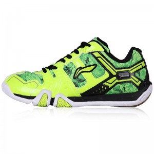 KIDS Light TD Lining Badminton Training Shoes - Fluorescent Green/Black [AYTL092-1]