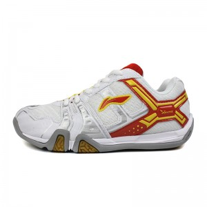 Li-Ning KID'S Light TD Badminton Training Shoes - White/Tomato Red/Yellow [AYTJ068-1]