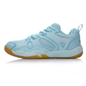 Li Ning 2017 Women's Light Badminton Training Shoes - Blue/Silver Grey [AYTM038-2]